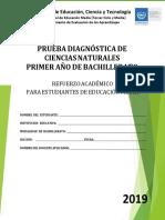 Prueba Diagnóstica- Ciencias Naturales -Primer Año Bachillerato - 2019.pdf