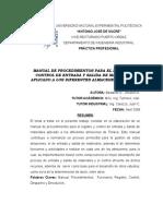 Manual Procedimientos Registro y Control Entrada y Salida Materiales