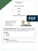 Evaluación de Ciencias Naturales Unidad 3