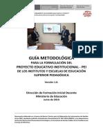 Guía Metodológica Instrumento de Gestión - PEI