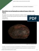 Descubren en un meteorito un mineral nunca visto en la Tierra _ Ciencia _ EL PAÍS