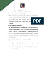 Cuestionario 1 - Alan Bohórquez 20191578012