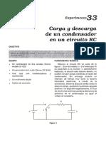 LAB 33 FIII Carga y Descarga de Un Condensador en Un Circuito RC