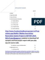 airline reservation system synopsis.docx