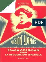 Porter, David (Ed.) - Visión en Llamas. Emma Goldman Sobre La Revolución Española [Anarquismo en PDF]
