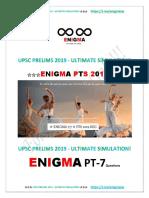 Enigma Upsc Ultimate Simulation 2019 7q