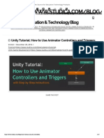 Unity Tutorial_ How to Use Animator Controllers and Triggers _ Studica Blog