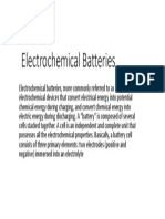 Electrochemical Batteries