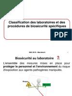 Biosûrté Et Biosecurité Au Laboratoire