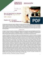 Convocatoria Capacitacion-metodos Unam 2019