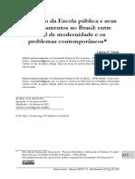A Invenção Da Escola Pública e Seus Desdobramentos No Brasil
