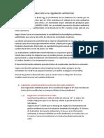 Introducción a La Regulación Ambiental