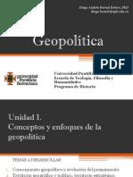 Cronograma de sesiones y exposiciones Geopolítica