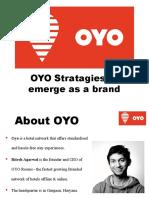OYO Strategies to emerge as a Brand