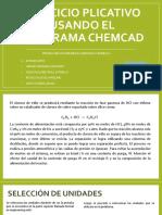 Ejercicios Usando El Programa Chemcad