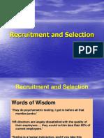 Recruitment Selctions