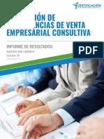 Informe de Calificación de Competencias en Venta Consultiva (Certificación en Ventas)