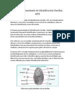 El Sistema Automatizado de Identificación Dactilar 3.0