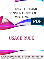 Applying the Basic Conventions of Writing