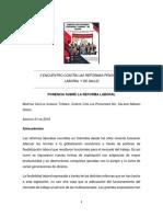 Ponencia Reforma Laboral II Encuentro