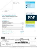 British Gas Example Bill