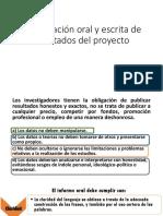Presentación Oral y Escrita de Resultados Del Proyecto