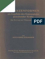 Alexander Strakosch Pflanzenformen Als Ergebnis Des Gegenspieles Gestaltender Kräfte 1933