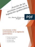 03 Los Procesos Civiles en La Alegislación Guatemalteca.