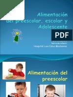 05 Alimentación del preescolar, escolar y adolescente