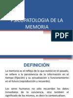 Psicopatologia de La Memoria y Del Pensamiento