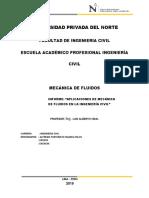 Aplicaciones de Mecánica de Fluidos en Ing. Civil