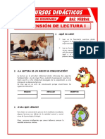 Comprension Lectura Para Primero de Secundaria