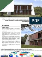 Análisis y adecuación de una vivienda moderna a un nuevo entorno aplicando criterios básicos de bioclimatica