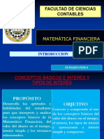 01 Introduccion s La Matematica Financiera
