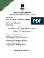 Programa Derecho Del Trabajo Cátedra A UNNE