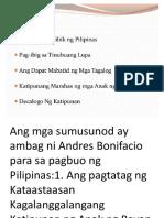 Ambag Ni Bonifacio