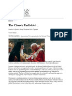 The Church Undivided