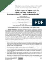 Efectos del maltrato en la neurocognición