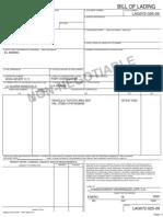 Bill of Lading LAG072-025-09