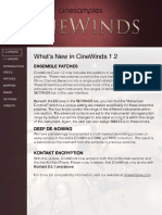 Cinewinds - User Manual