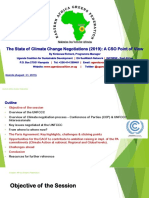 Presentation at East African Freens Federation capacity building workshop on the global climate negotiations (August 2019)