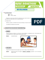 Que Estudia La Ecología Para Primero de Secundaria