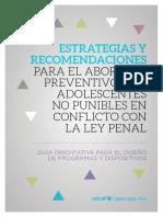 Estrategias Yrecomendaciones Para El Abordaje Preventivo Con Adolescentes No Punibles en Conflicto Con La Ley Penal