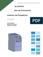 WEG CFW300 User Manual Manual Del Usuario Manual Do Usuario 10003325037 En