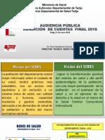 SEDES Rendición de Cuentas Final 2018 SEDES