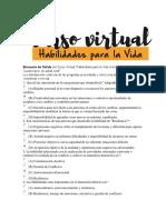 Encuesta de Salida Del Curso Virtual - HPV.