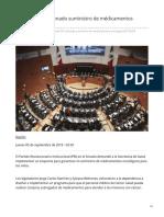 06/Septiembre/2019 Demanda PRI a Senado suministro de medicamentos oncológicos.
