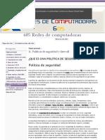 11. Politicas de Seguridad y Firewall - 605 Redes de Computadoras