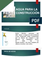 Agua Para La Construcción