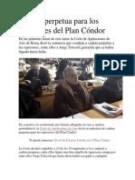 Cadena Parpetua Plan Condor
